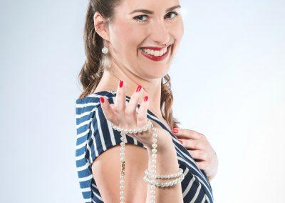 Vintage Portrait mit der Perlenkette