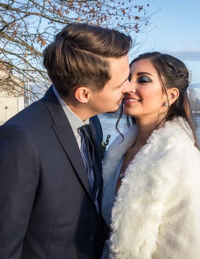 Anna Glad Hochzeitsfotograf Bodensee Hochzeit Kuss Paarshooting