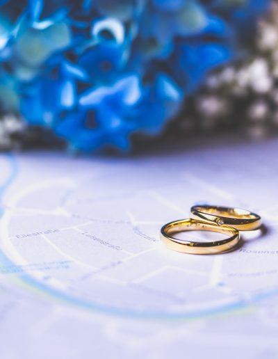 Hochzeitsfotografie Donaueschingen Brautstrauß Blumen Ringe Eheringe